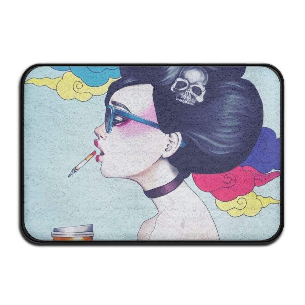 Smart Dry Memory Foam Bath Kitchen Mat for Bathroom - Goth Gotik Gothic Women Girl Art Shower Spa Rug Entrance Door Mats Home Decor with Non Slip Backing 18'' x 30'' Inches