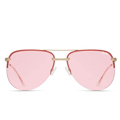 54bc5e153ad Image Unavailable. Image not available for. Color  Quay Australia THE PLAYA  Women s Sunglasses Framelss Aviator - Rose Pink