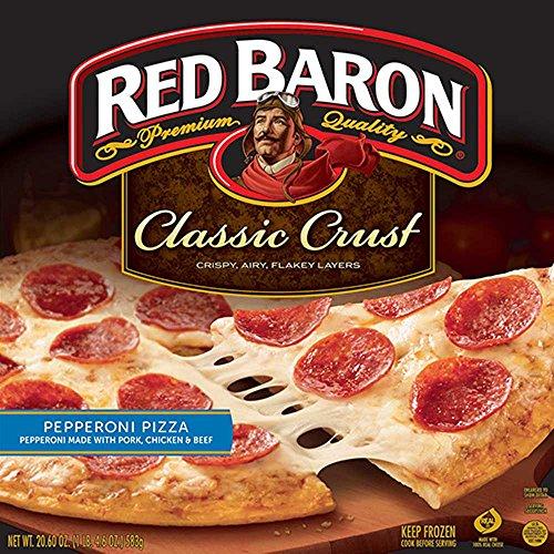 Red Baron Classic Crust Pepperoni Pizza, 12 inch - 16 per case.