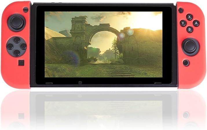 Silica DMV175RED - Carcasa Silicona para joi con para Nintendo Switch, Color Rojo: Amazon.es: Electrónica