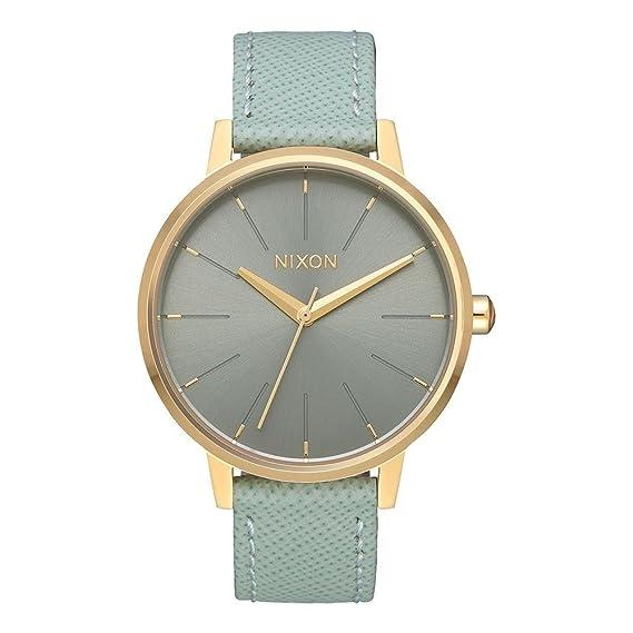Nixon Reloj Analogico para Mujer de Cuarzo con Correa en Cuero A108-2814-00: Amazon.es: Relojes