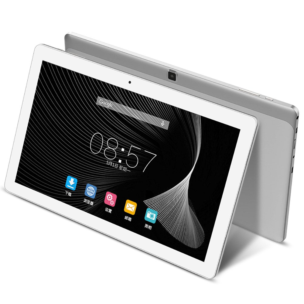ALLDOCUBE iPlay10 10.6 inch 1920 x 1080 IPS Display Screen Tablet, Cube Android 6.0 Tablet Quad Core MTK MT8163 64-bit 1.3Ghz, 2GB+32GB, Support 5Ghz + 2.4Ghz WiFi and HDMI Output, White Silver by ALLDOCUBE