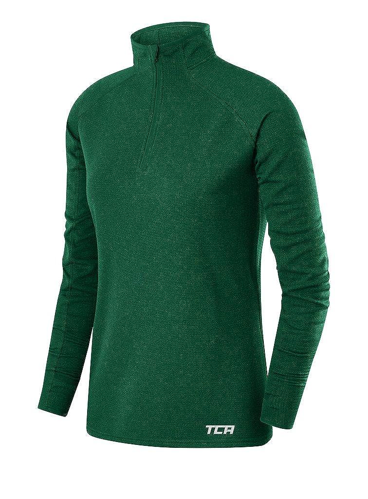 TCA Women's Cloud Fleece ¼ Zip Thermal Running Sweatshirt with Zip Pocket