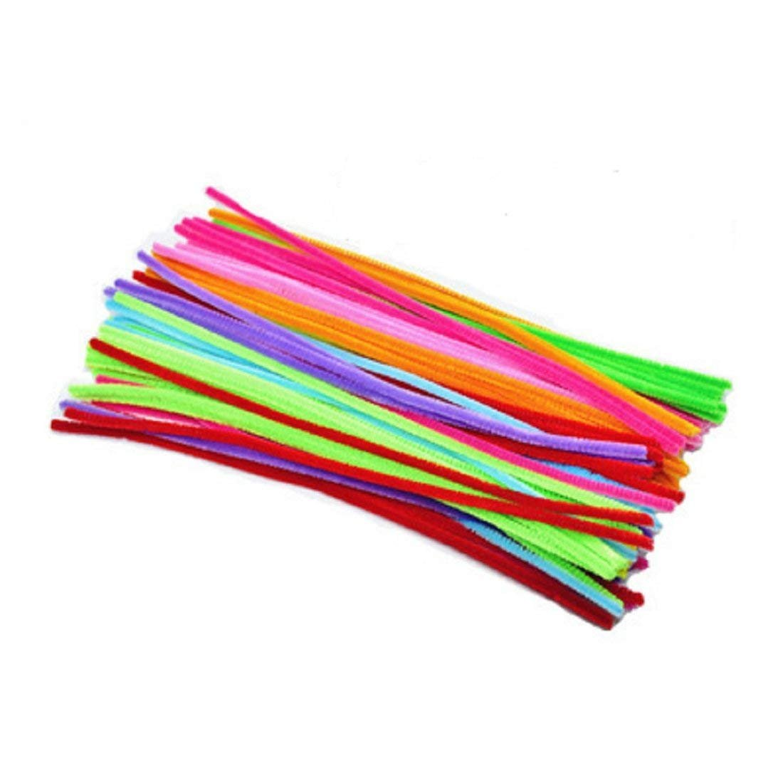 200Pieces Bendaroos Montessori Materials Math Chenille Stems Sticks Puzzle Craft Children Pipe Cleaner Pipe Cleaners Chenille Stem Educational Creative Toy,Light Color Mix
