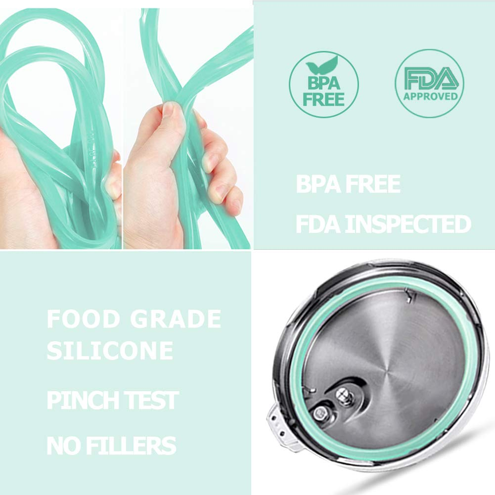 Silicone Sealing Rings for Instant Pot 5 /& 6 Quart Food-Grade Silicone Leak Proof Sealing Rings Perfect Replacement 6 Quart Instant Pot Accessories Green, 2 Pack