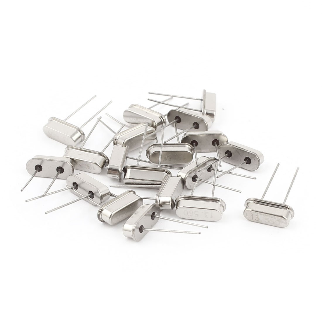 Aexit 20 Pcs Passive Components Low Profile 13.56MHZ DIP Crystal Oscillator Resonators HC-49S Replacements