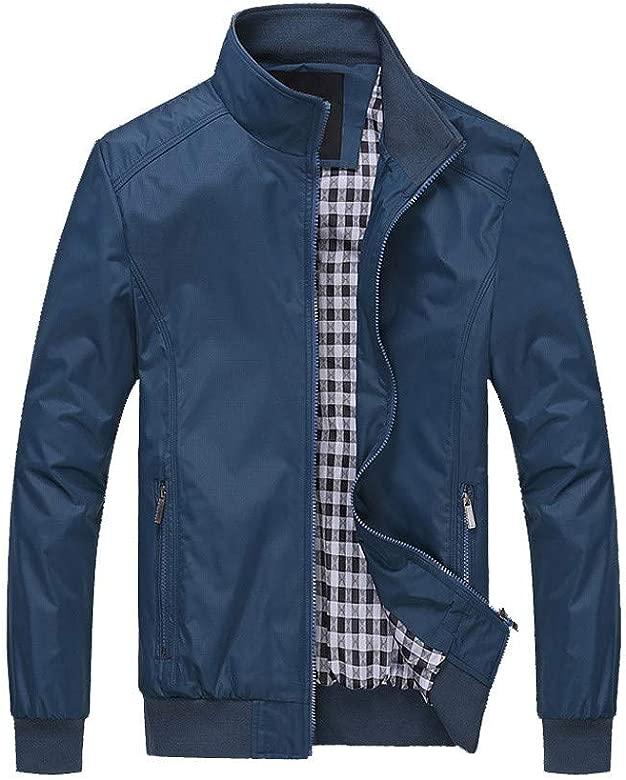 ZODOF Chaqueta de Hombre Abrigo de Chaqueta Caliente de Invierno de los Hombres Outwear Abrigo de Cremallera de Malla Larga Delgado M-6XL