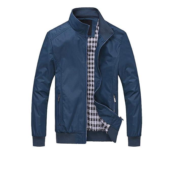 ZODOF Chaqueta de Hombre Abrigo de Chaqueta Caliente de Invierno de los Hombres Outwear Abrigo de Cremallera de Malla Larga Delgado M-6XL: Amazon.es: Ropa y ...