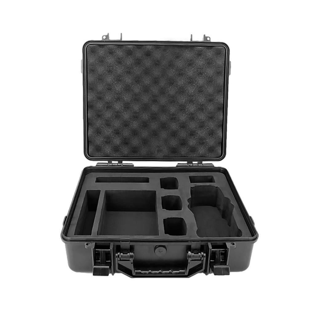 Maonet Military Spec Hardshell Carrying Case Waterproof Storage Case for DJI Mavic 2 Pro/Zoom & Smart Controller (Black)
