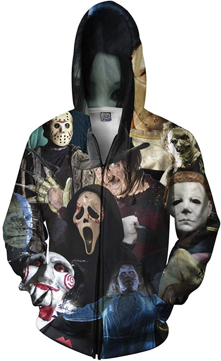 Mens//Womens Horror Movie 3D Print Casual Sweatshirt Hoodies Pullover Hoody