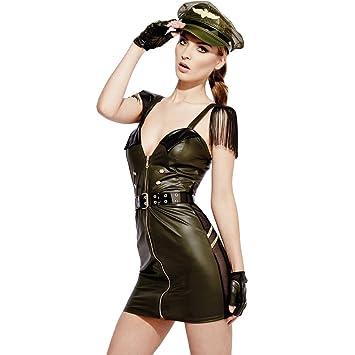 Smiffys Disfraz de Militar con Efecto Mojado de Fever para Juego ...