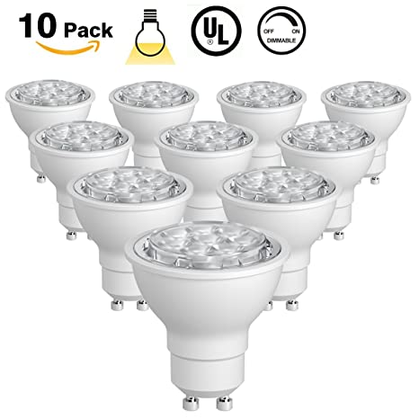 10 pack warm white sunthin 65w gu10 led bulb dimmable 60w 10 pack warm white sunthin 65w gu10 led bulb dimmable audiocablefo