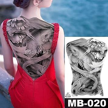 tzxdbh 48 * 35 cm Mujer Que atrapa Peces Tatuajes Grandes ...