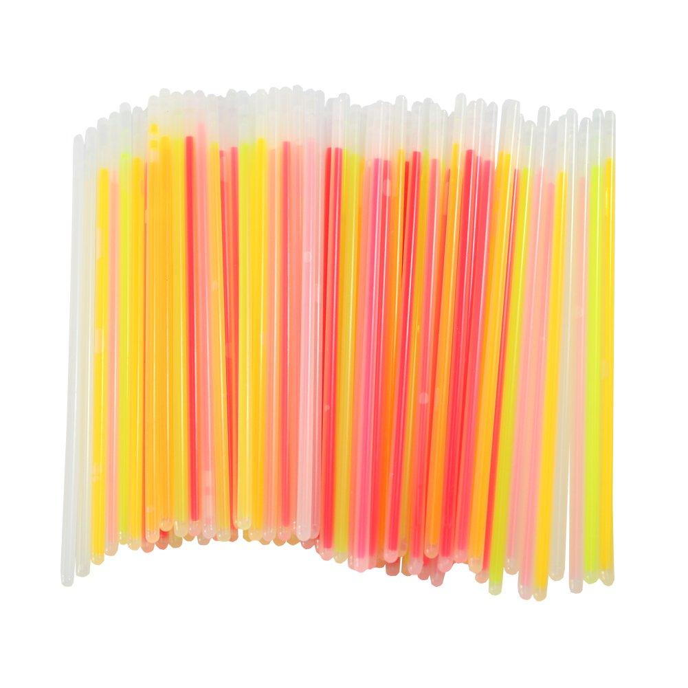 T-MEKA 100pcs Hot New Necklace Fashion 3-5hours Lighting Party Birthday Glow Stick Bracelets Mix