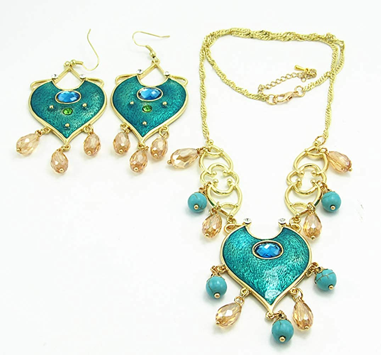 ookmngft Collar de Las señoras Nuevo Aladdin Cosplay Resina Colgantes Princesa Jasmine Collar Mujeres Regalos