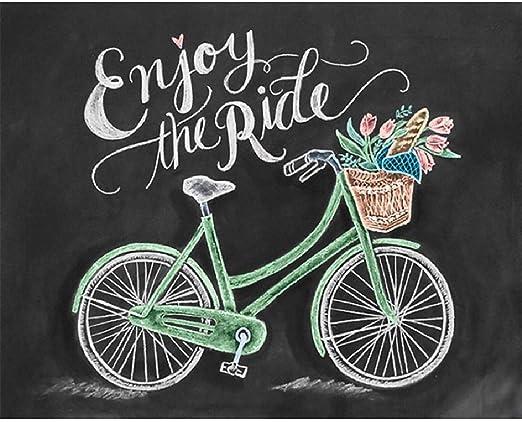 Rompecabezas De 1000 Piezas Para Adultos Y Niños. Rompecabezas De Madera Disfrute De La Bicicleta En Bicicleta ...
