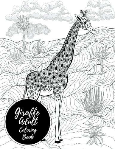 Giraffe Adult Coloring Book Relaxation product image