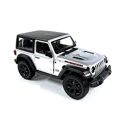 Jeep Wrangler Rubicon 4x4 Hard Top Off Road Exploration Diecast Model Toy Car Silver: Toys & Games