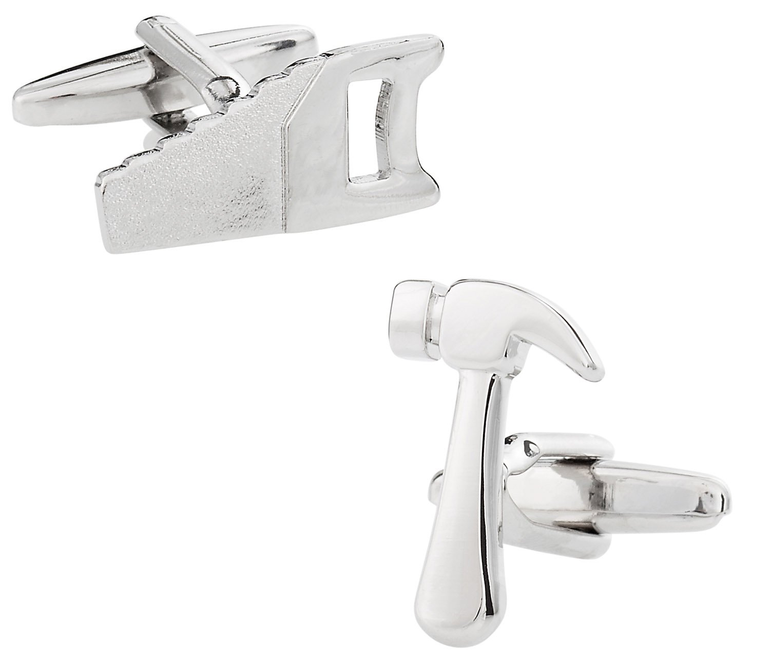 Cuff-Daddy Construction Hammer Saw Cufflinks for Carpenters