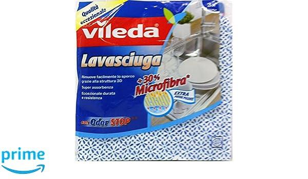 VILEDA Paño Lavadoras-Secadoras Con Odor Stop 3 Unidades: Amazon.es: Hogar