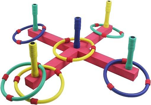 Symiu Lanzamiento de Anillas Juego de Punteria Interior o al Aire Libre Juguetes Playa Jardin Juguetes para Ninos 3 4 5 6: Amazon.es: Juguetes y juegos