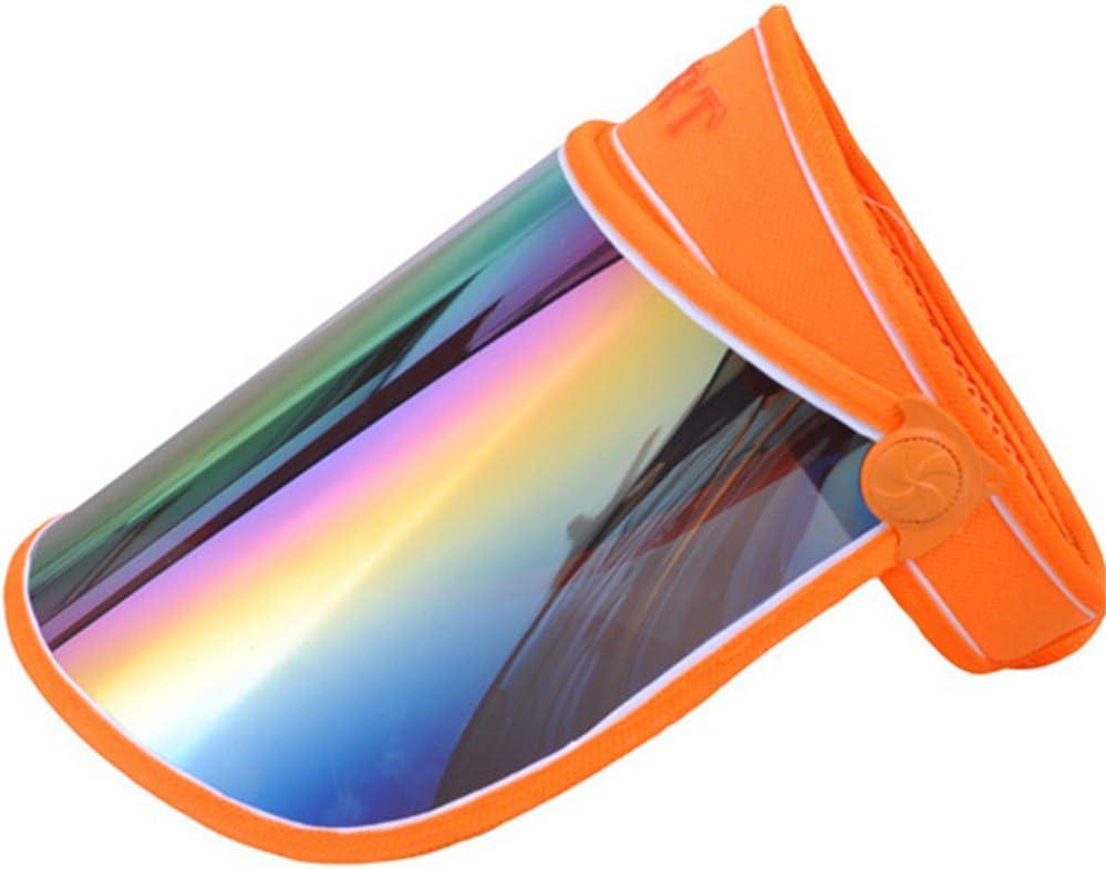 VANKER Unisexo de Verano de ala Ancha Protecci/ón UV Parasol Visera Sombrero de Protecci/ón Facial Gorra de Rotaci/ón