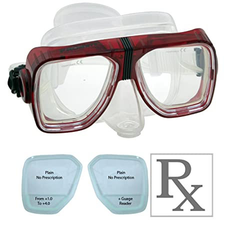 94b0308cf23 Amazon.com   BiFocal Gauge Reading Scuba Dive Snorkeling Purge Mask  Prescription Lenses   Sports   Outdoors
