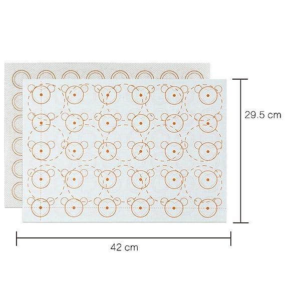 Y-YT Estera de silicona para hornear Silicona mat para hornear almohadilla resistente al calor para hornear (juego de 5): Amazon.es: Hogar