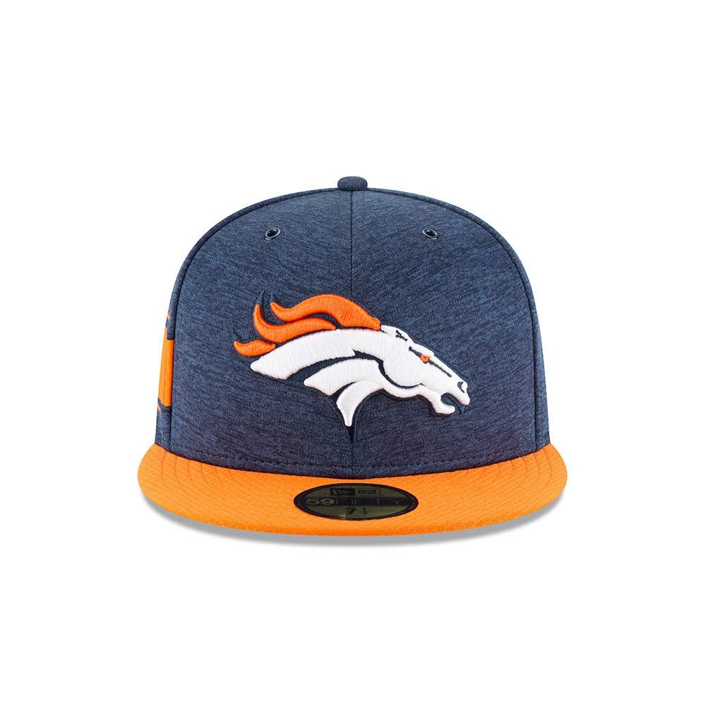 half off b39ef 174fe Amazon.com  New Era Denver Broncos 2018 NFL Sideline Home 59FIFTY Fitted Hat  – Blue Orange  Sports   Outdoors