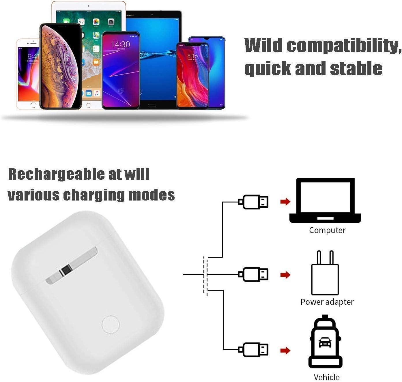Bluetooth Kopfh/örer 5.0,Stereo-Mini Kabellose Kopfh/örer,Wasserdichtes Sport Bluetooth Kopfh/örer In Ear mit Rauschunterdr/ückung Mikrofon,Kopfh/örer f/ür iPhone Android//Samsung