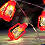 20 LED Red Lantern Mini Kerosene String Lights For Patio Garden Holiday Home Decorations