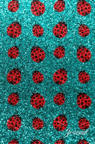 Journal: Faux turquoise glitter cute ladybugs notebook
