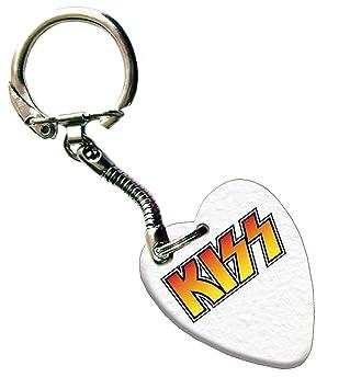 Kiss Love corazón púa de guitarra Llavero con ambos lados ...