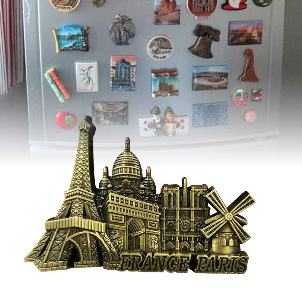 Aimant de r/éfrig/érateur Notre Dame Mod/èle Innovant autocollant 3D en m/étal mignon de r/éfrig/érateur pour des enfants