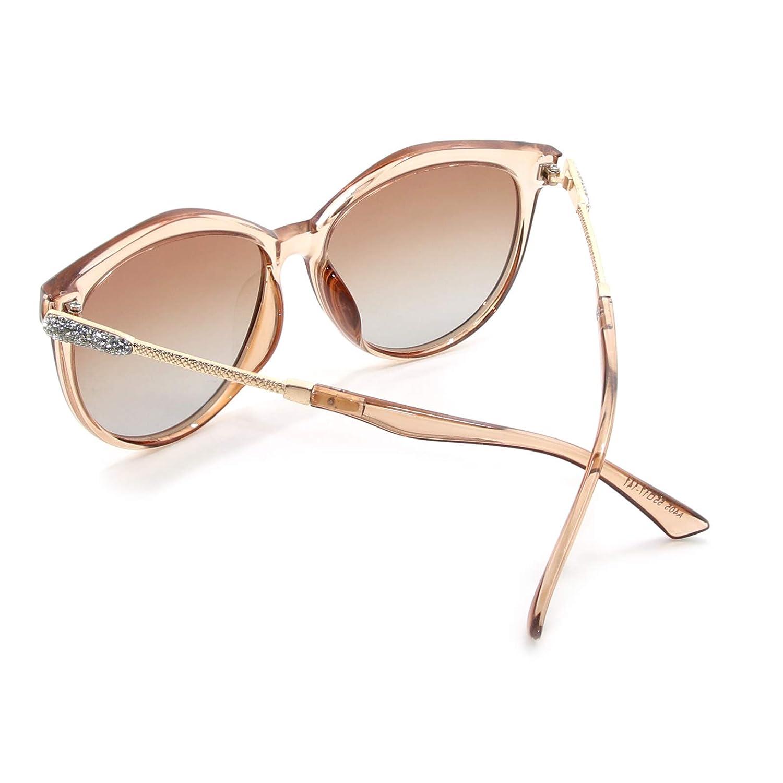 WHCREAT Klassische Mode Polarisierte Sonnenbrille f/ür Damen Cat-Eye-Stil UV400 Schutz Farbverlauf Linse Gespiegelte Linse Verf/ügbar