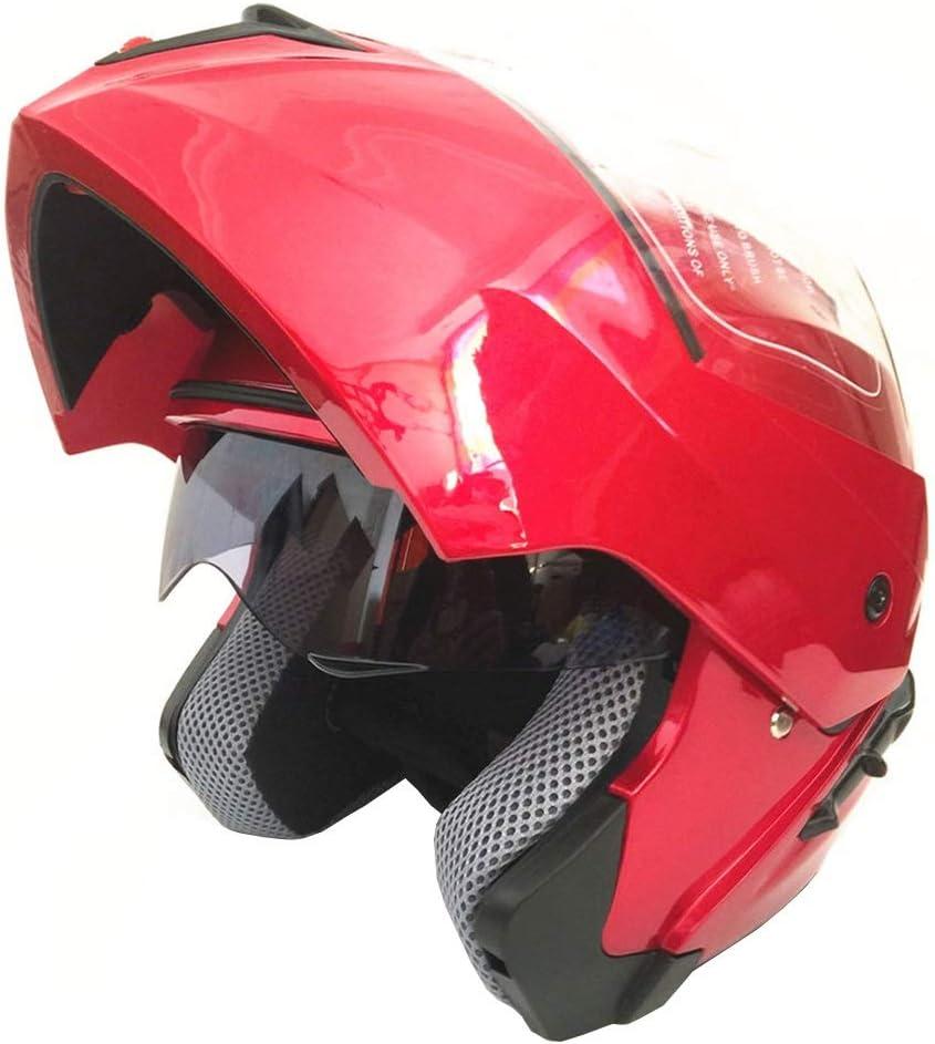 GWM ダブルレンズフルオートバイヘルメットモーターバイクヘルメットXXLモトクロスヘルメットゴーグルアダルト (色 : 赤, サイズ さいず : XXL) 赤 XX-Large