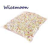 Wicemoon pequeño poliestireno espuma de poliestireno bolas de espuma de decoración de bolas, alrededor de 13000-14000 piezas / bolsa (colorido)