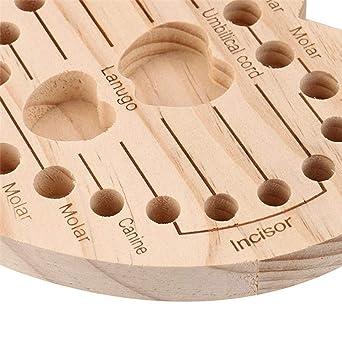 Amazon.com: Caja de madera para guardar los dientes del bebé ...