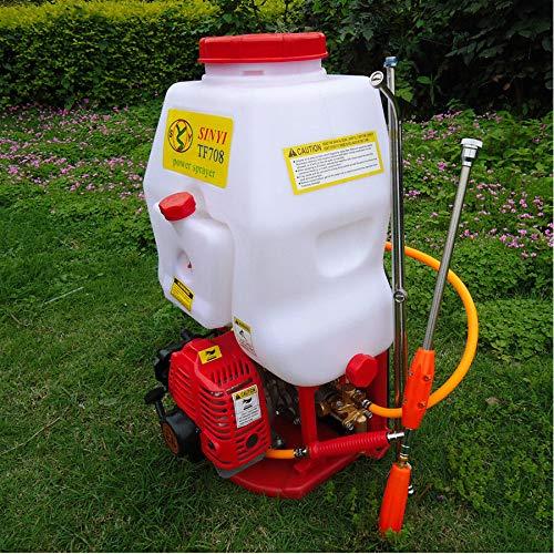 TUQI Agricultural Mist Duster Sprayer Petrol Garden Weed Sprayer Gasoline Powered Multifunction Backpack Fertilizing Watering Farm Knapsack Backpack Garden 20L