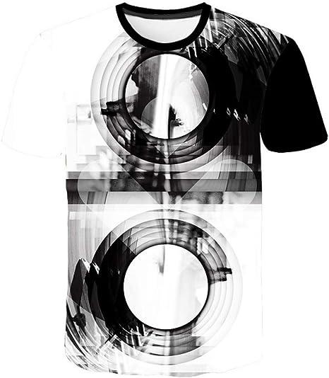 RCFRGV 3DT Camisa Verano Ropa de Hombre O-Cuello Reloj Chaqueta Cerveza Camiseta de Manga Corta 3D Camiseta de impresión Digital Homme Gran tamaño 6XL: Amazon.es: Deportes y aire libre