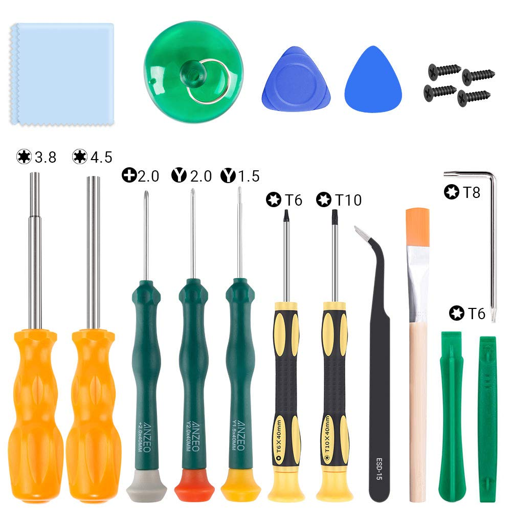 SOKER Magnetic Screwdriver Kit for Nintendo, 17-in-1 Professional Screwdriver Repair Tool Kits, 3.8mm&4.5mm Full Security Screwdriver for Nintendo Switch, New 3DS and Nintendo Wii/NES/SNES/DS Lite/GBA by SOKER