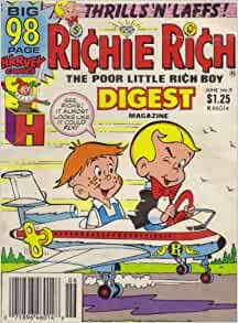 Richie Rich Thrills 'n' Laffs! Digest Magazine #10 The