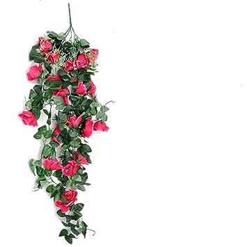 Amazon.com: Rosas artificiales de seda para colgar en el ...