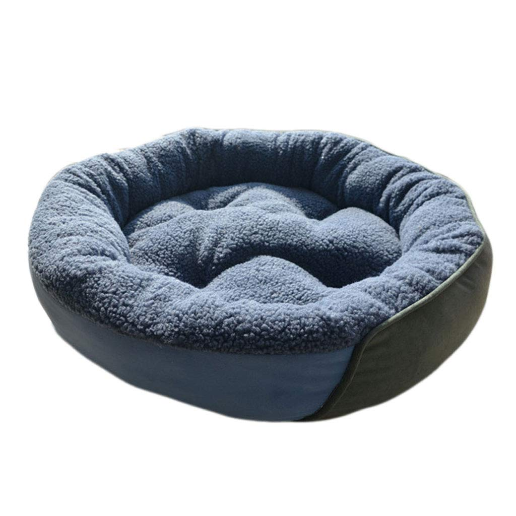 50cm Dog Bed Soft Comfortable Round Cat Bed Pet Warm Basket Bed Cushion Non-Slip Sofa (Size   50cm)