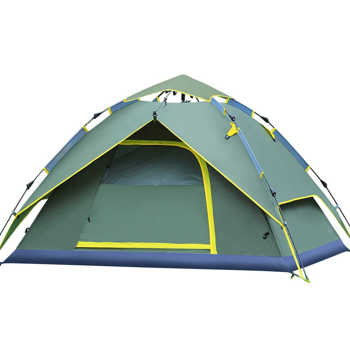 Hydraulische Kuppel Zelt Überdachung Für Camping Automatische Wasserdichte Hydraulische Zelte 3-4 Person Überdachung Einfach Zu Installieren Und Paket Grün Von Qisan