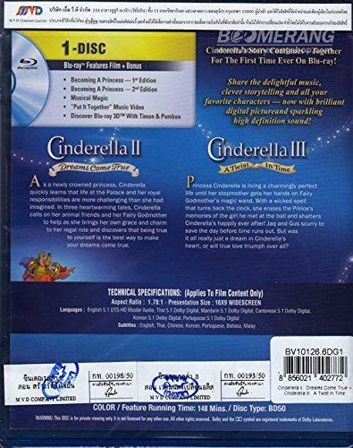Cinderella II + Cinderella III 2 Movie Collection (Blu-ray 1 Disc 2 Movie Collection: Cinderella II Dreams Come True + Cinderella III: A Twist In Time) Walt Disney Animation