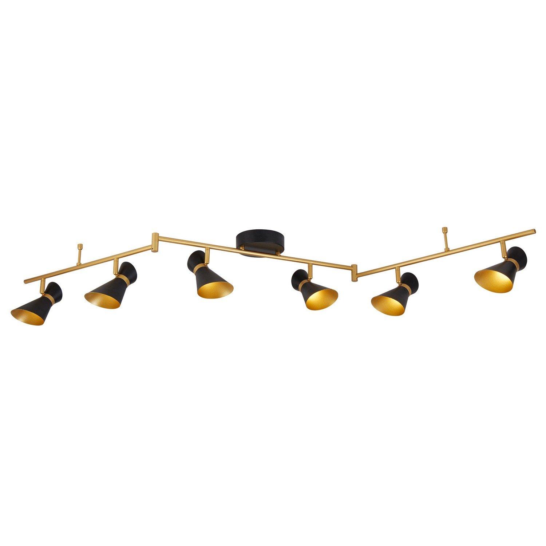 black gold Searchlight Diablo 6 LED Spot Bar Light