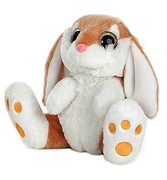 Barrado - Conejo de Peluche sentado 29cm Calidad super soft - Color Marron oscuro