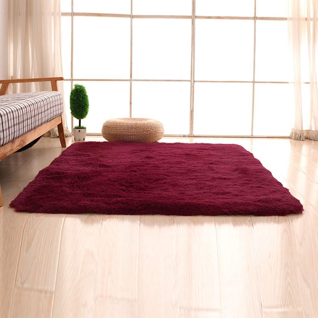 PLY HOME Bathroom Kitchen Living Bedroom Carpet Tiles,Simple Modern Silk Hair Living Room Bedroom Bedside Mat Non-Slip Carpet Rectangular Coffee Table Carpet (Color : N, Size : 40603cm)