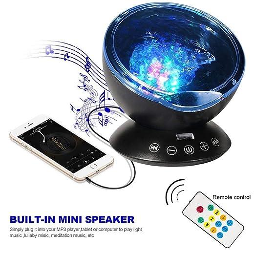 Lámpara Proyector, control remoto, proyector de ola oceánica, con ...